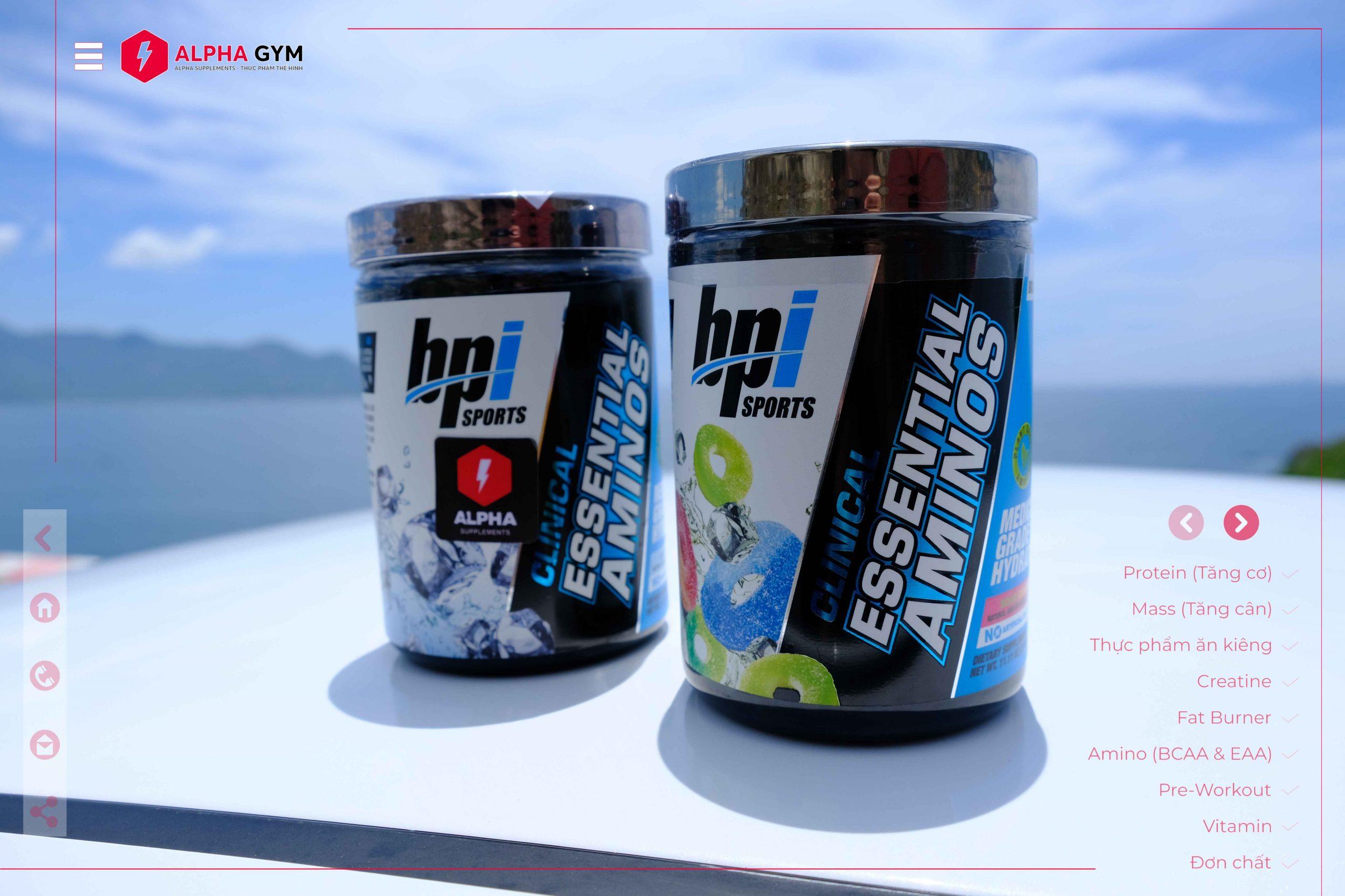 BPISports Clinical Essential Aminos (30Servings) - Thực phẩm thể hình Nha Trang