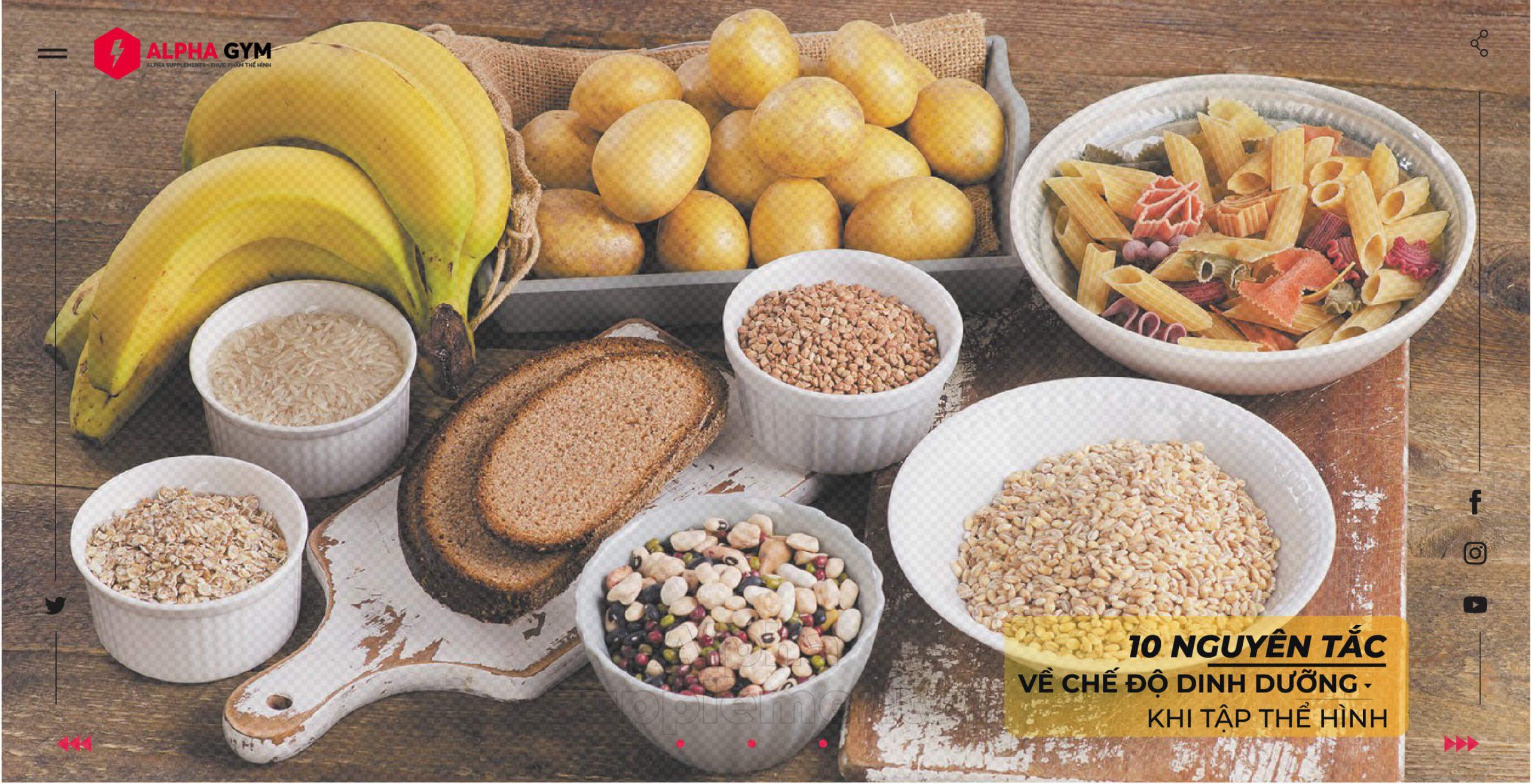 10 nguyên tắc về chế độ dinh dưỡng khi tập thể hình