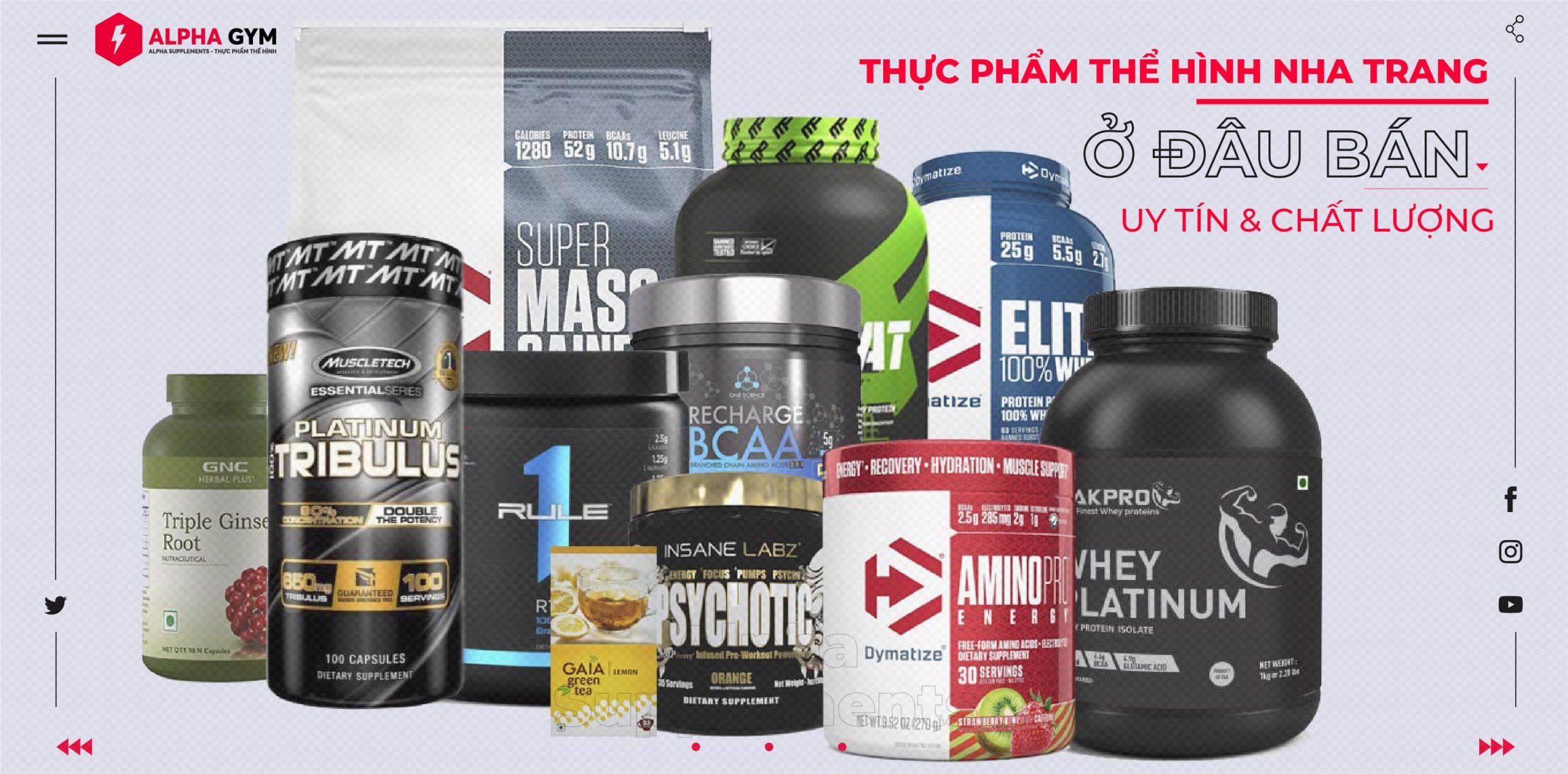 Thực phẩm thể hình Nha Trang - Alpha Supplements